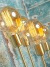 LAMPA STOŁOWA CANNES ZŁOTA 12X37CM