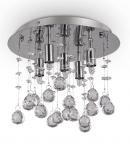 PLAFON KRYSZTAŁOWY IDEAL LUX  MOONLIGHT PL5 094649 CHROM LAMPA KRYSZTAŁOWA GLAMOUR