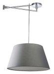 NOWOCZESNA LAMPA SUFITOWA WISZĄCA NA WYSIĘGNIKU AZZARDO NATALIA S GREY AZ1924+AZ2591