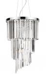 CHROMOWANA KRYSZTAŁOWA LAMPA WISZĄCA IDEAL LUX CARLTON SP8 117737 ŻYRANDOL KRYSZTAŁOWY CHROM