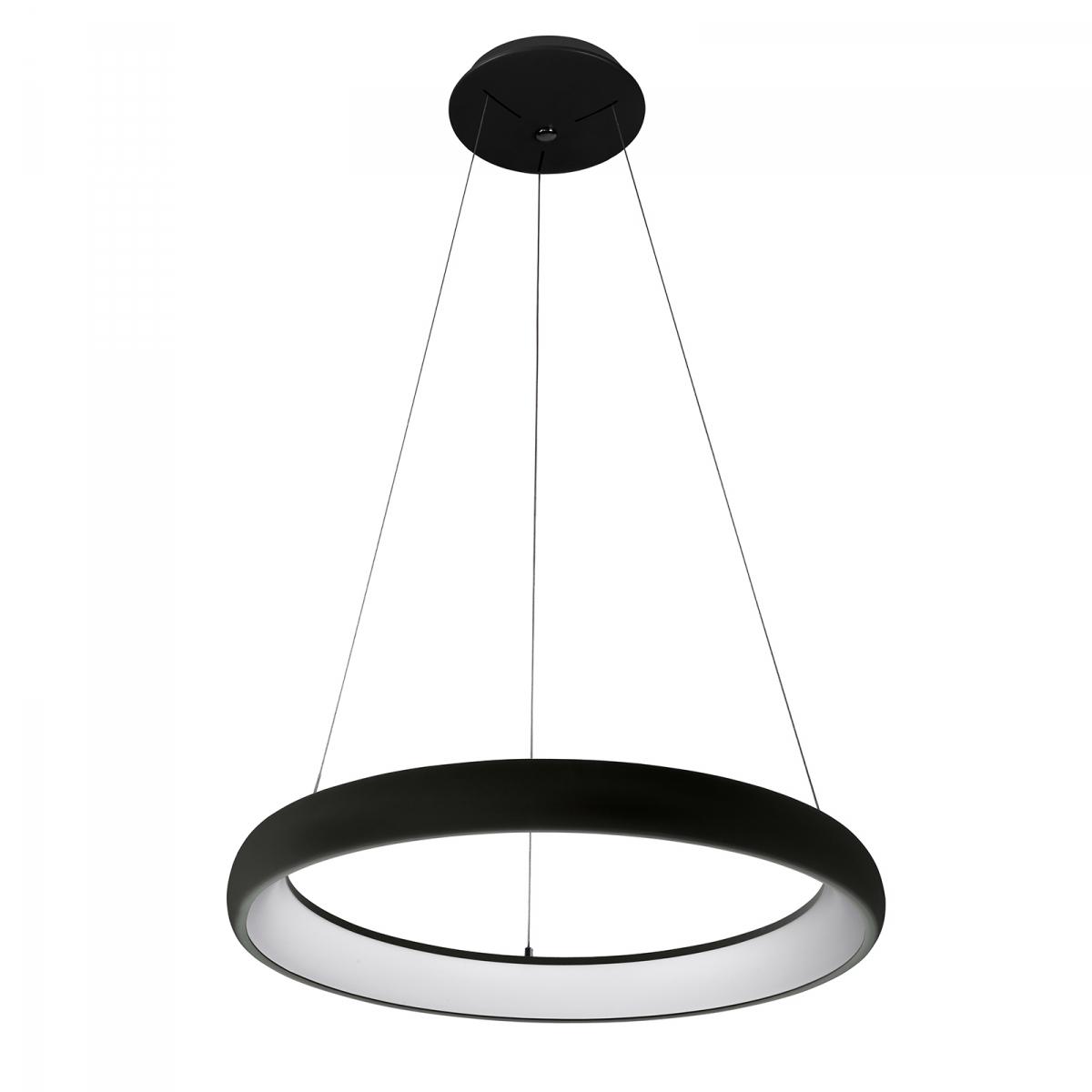 NOWOCZESNY LAMPA WISZĄCA LED OKRĄG KOŁO ITALUX ALESSIA 5280 850RP BK 3 CZARNA