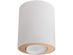 LAMPA NOWODVORSKI SET 8896 OPRAWA SUFITOWA TUBA BIAŁY/ZŁOTY NOWOCZESNA