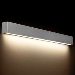 KINKIET LISTWA LED NAD LUSTRO STRAIGHT WALL LED 9614 METALOWY SREBRNY NOWODVORSKI