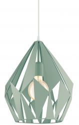 EGLO CARLTON-P 49026 PASTELOWA LAMPA WISZĄCA ZIELONA LOFT VINTAGE
