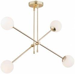 MINIMALISTYCZNA ZŁOTA LAMPA WISZĄCA Z BIAŁYMI KULAMI ARGON ABSTRACT 1695 BIAŁE KULE NOWOCZESNA LAMPA DO SALONU