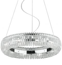 KRYSZTAŁOWA LAMPA WISZĄCA OKRĄGŁA IDEAL LUX QUASAR SP10 059570