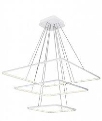 NOWOCZESNA LAMPA WISZĄCA KWADRATY NIX WHITE 117W LED BIAŁA MILAGRO ML989 BARWA NEUTRALNA 4000K