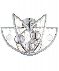 KRYSZTAŁOWA LAMPA SUFITOWA PLAFON OKRĄGŁY MUNI-CH-F ENDON CHROM