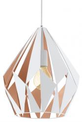 NOWOCZESNA LAMPA WISZĄCA LOFT CARLTON 49932 EGLO BIAŁA-ZŁOTA METALOWA W SKANDYNAWSKIM STYLU