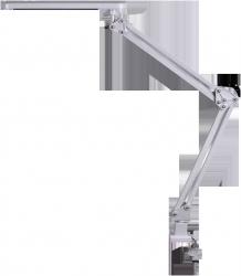 LAMPA BIURKOWA LED 5,6W KREŚLARSKA PRZYKRĘCANA DO BLATU RABALUX RAUL 4420 SREBRNA