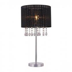 LAMPA WEWNĘTRZNA STOŁOWA ZUMA LINE LETA TABLE RLT93350-1B TKANINA, METAL CZARNA