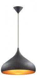 ITALUX JUAN MB00358C-001 LAMPA WISZĄCA CZARNA/ ZŁOTA