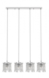 ZUMA LINE LAMPA WISZĄCA KRYSZTAŁOWA NOWOCZESNA P0509-04C-B5AC CHROM W STYLU GLAMOUR