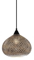 SZKLANA LAMPA WISZĄCA CHROMOWA ITALUX LOREAN MDM-3330/1 BK+SL