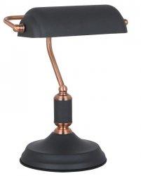 ITALUX PABLO LAMPA STOŁOWA BIUROWA CZARNA