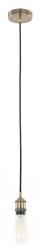 LAMPA WISZĄCA ZWIS NA ŻARÓWKĘ CLASSO DS-M-034 ANTIQUE BRASS ITALUX