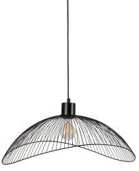 CZARNA LAMPA WISZĄCA DRUCIANA LOFT ITALUX NUNEZ PND-1702-1-L-B