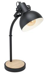 LAMPKA BIURKOWA VINTAGE EGLO LUBENHAM 43165 CZARNA
