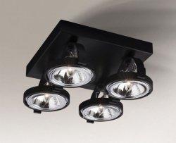 LAMPA SUFITOWA SPOT REFLEKTOR SAKURA 2237/G53/CZ SHILO CZARNA POCZWÓRNA