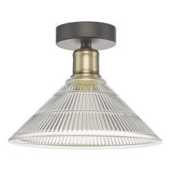 LAMPA SUFITOWA PLAFON W STYLU LOFT PRYZMATYCZNY KLOSZ DAR LIGHTING BOYD BOY0175