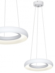 BIAŁA LAMPA WISZĄCA LED MILAGRO RONDO BIANCO 12W ML351