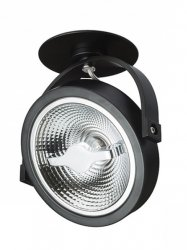 LAMPA OPRAWA SPOT MILAGRO LUGAR ML5700 BLACK 1xAR111 GU10  MONTAŻ PODTYNKOWY