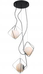LAMPA WISZĄCA DESIGNERSKA ITALUX CANTO PEN-5696-3-BKCR