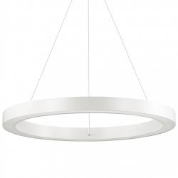 BIAŁA LAMPA WISZĄCA OKRĄG IDEAL LUX ORACLE ROUND D60 BIANCO 211398 NOWOCZESNA BIAŁA RING LED