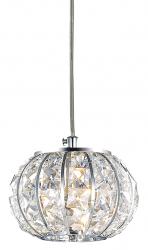 KRYSZTAŁOWA LAMPA WISZĄCA CALYPSO SP1 IDEAL LUX W SYLU GLAMOUR CHROM