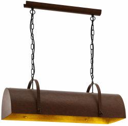 LAMPA WISZĄCA NAS STÓŁ EGLO DEERHURST 49702 VINTAGE LOFT BRĄZOWA