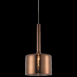 NOWOCZESNA LAMPA WISZĄCA ZWIS COPENHAGEN P01028CU COSMO LIGHT SZKŁO MIEDZIANA