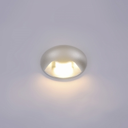 LAMPA ELEWACYJNA ITALUX BASILIO PL-741-1E SREBRNA LEDOWA