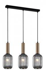 NOWOCZESNA SZKLANA LAMPA WISZĄCA ITALUX ANTIOLA PND-5588-3M-BRO+SG DESIGNERSKA LOFT
