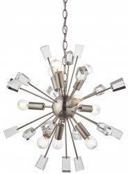 DESIGNERSKA LAMPA WISZĄCA MIRO ENDON SATYNOWA GLAMOUR Z KRYSZTAŁKAMI