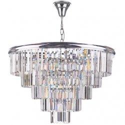 KRYSZTAŁOWA LAMPA WISZĄCA NAD STÓŁ W STYLU GALMOUR DAR LIGHTING EULALIA EUL1250 ŻYRANDOL KRYSZTAŁOWY