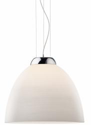 NOWOCZESNA LAMPA WISZĄCA NAD STÓŁ BIAŁA IDEAL LUX TOLOMEO SP1 D40 SZKLANA