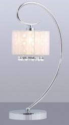 ITALUX SPAN MTM1583/1 WH BIAŁA LAMPKA NOCNA / STOŁOWA Z ABZUREM CHROM