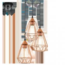 LAMPA WISZĄCA EGLO TARBES COPPER 94196
