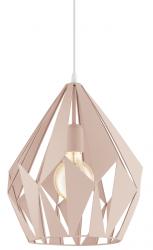 EGLO CARLTON-P 49024 PASTELOWA LAMPA WISZĄCA RÓŻOWA LOFT VINTAGE