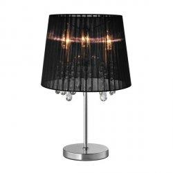 LAMPA WEWNĘTRZNA (STOŁOWA) ZUMA LINE CESARE TABLE RLT94350-3B TKANINA, METAL CZARNA