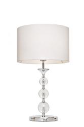 LAMPA WEWNĘTRZNA STOŁOWA ZUMA LINE REA TABLE RLT93163-1W   BIALA TKANINA, KRYSZTAL