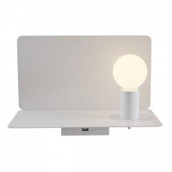 NOWOCZESNY KINKIET ŚCIENNY LED Z PÓŁKĄ I PORTEM USB MAYTONI RACK C182-TL-01-W