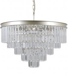 KRYSZTAŁOWA LAMPA WISZĄCA ITALUX VERDES PND-44372-11-CHMP-GLD ŻYRANDOL KRYSZTAŁOWY