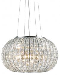 KRYSZTAŁOWA LAMPA WISZĄCA CALYPSO SP3 IDEAL LUX W SYLU GLAMOUR CHROM