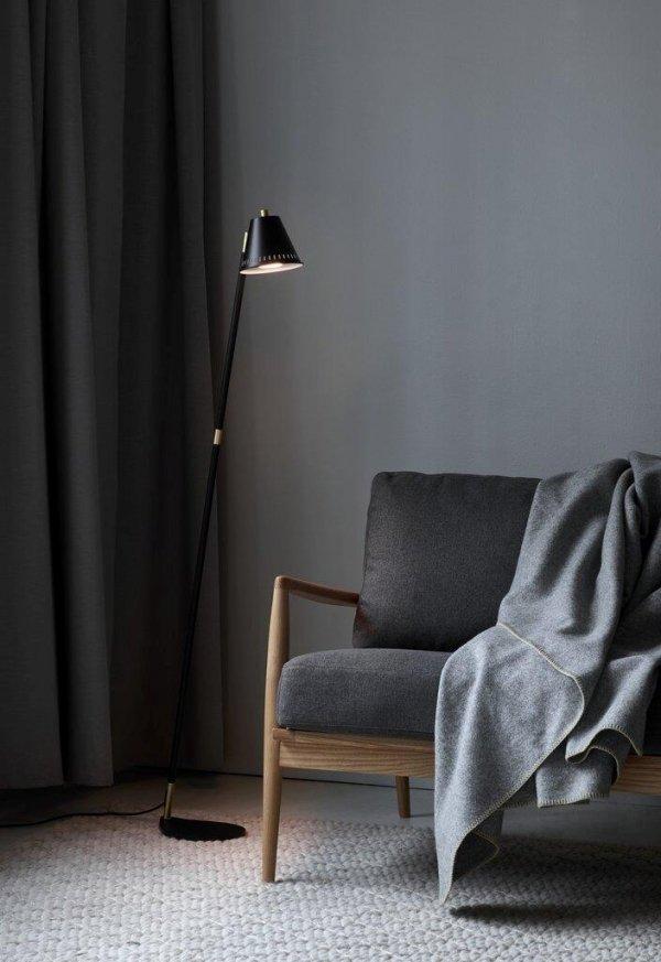 NORDLUX PINE SKANDYNAWSKA LAMPA PODŁOGOWA STOJĄCA LOFT SZARY