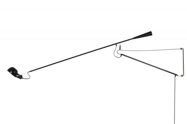 CZARNY KINKIET Z DŁUGIM WSIĘGNIKIEM NOWOCZESNY DESIGNERSKI KINKIET RIFLE KING HOME JB7016L/MSE010400149