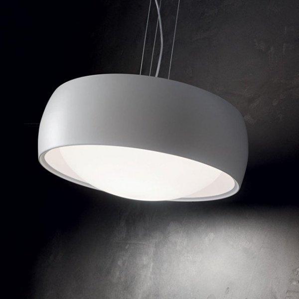 SZARA LAMPA WISZĄCA IDEAL LUX COMFORT SP1 159560 NOWOCZESNA LAMPA DO SALONU - JADALNI
