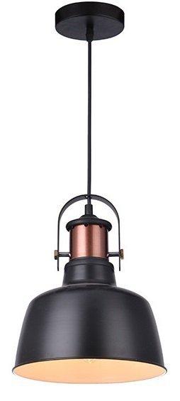 LAMPA UFITOWA WISZĄCA AZZARDO DARLING 1 BLACK MD50686-1