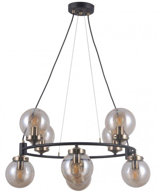 NOWOCZESNA LAMPA WISZĄCA LOFT KULE ITALUX GALVEZ PND-28622-8A CHROM INDUSTRIALNA LAMPA DO SALONU - JADALNI