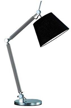 NOWOCZESNA LAMPA STOŁOWA NOCNA AZZARDO ZYTA TABLE  AZ2307+AZ2600 ALU/BK